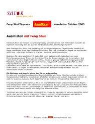 Ausmisten mit Feng Shui