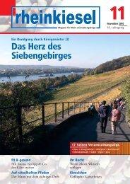 Das Herz des Siebengebirges Ein Rundgang durch ... - Rheinkiesel