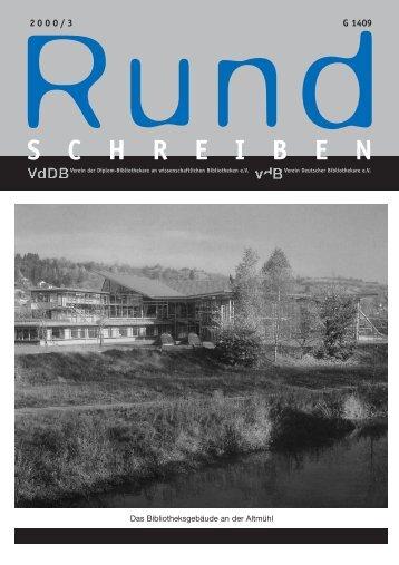 S C H R E I B E N - Verein Deutscher Bibliothekare