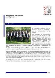 Informationen zum Ensemble und Mitgliedern - blech10.de