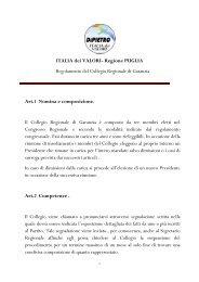 Regolamento del Collegio Regionale di Garanzia - Italia dei Valori ...