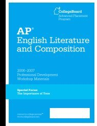 The Importance of Tone - AP Central - College Board
