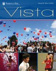 Vista Issue 20 : Term 4 2012 - Rangitoto College