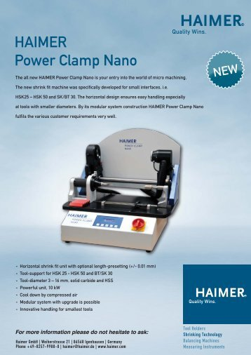 HAIMER Power Clamp Nano - Haimer GmbH