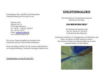 Das besondere Bild Flyer Juli 2013 mit Anmeldung