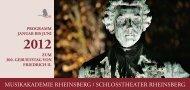 2012 - Musikakademie Rheinsberg