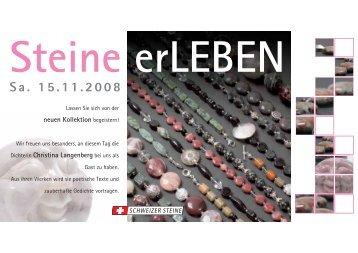 Sa. 15.11.2008 - EDEL und STEINE