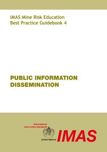 public information dissemination - United Nations Mine Action Centre