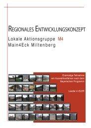 regionales entwicklungskonzept - Lokalen AktionsGruppe Main4Eck ...