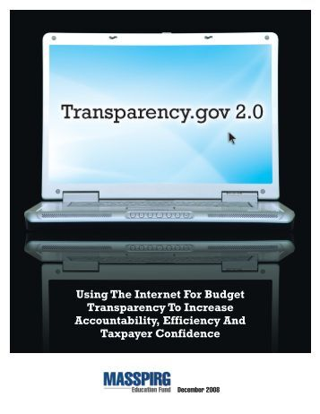 Using The Internet For Budget Transparency To Increase ... - US PIRG