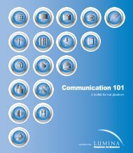 Communication 101 - Lumina Foundation