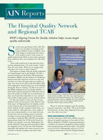 The Hospital Quality Network and Regional TCAB - CommPartners