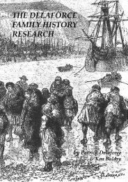 THE DELAFORCE FAMILY HISTORY RESEARCH - Art & Science