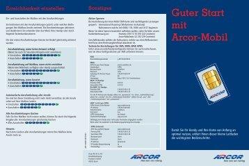 Guter Start mit Arcor-Mobil