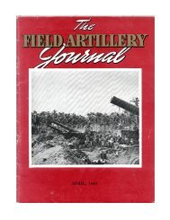 THE FIELD ARTILLERY JOURNAL - APRIL 1945 - Fort Sill - U.S. Army