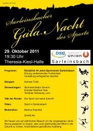 Programm: Rückblick 44 Jahre Sportverein Sarleinsbach