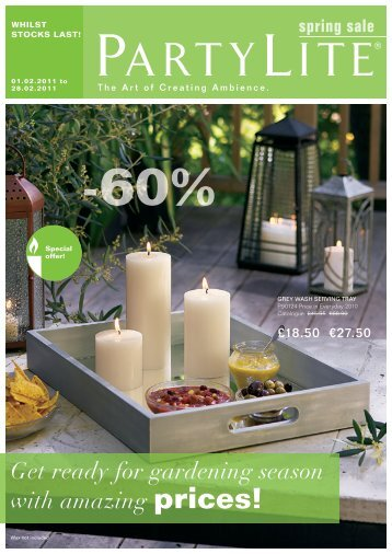 Get ready for gardening season with amazing prices! - PartyLite ...