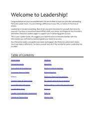 Leader Guide - PartyLite Consultant Business Center