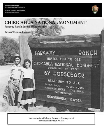 CHIRICAHUA NATIONAL MONUMENT - National Park Service