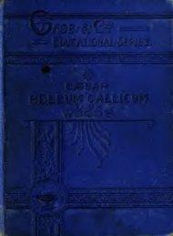 Caesar, De Bello Gallico (Books I. and II.) : with a Vocabulary and ...