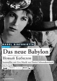 Das neue Babylon - Basel Sinfonietta