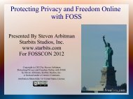 Protecting Privacy and Freedom Online with FOSS - Starbits Studios ...