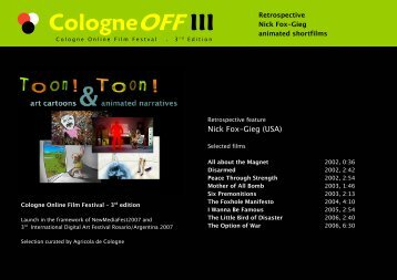 CologneOFF III - [NewMediaArtProjectNetwork]:||cologne - Downloads