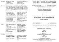 WIENER HOFMUSIKKAPELLE Wolfgang Amadeus Mozart