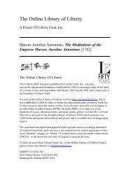 Online Library of Liberty: The Meditations of the Emperor Marcus ...