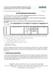 ON LINE FORWARD AUCTION NOTICE 1. The ... - MSTC Limited