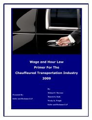 Wage and Hour Law Primer For The Chauffeured Transportation ...