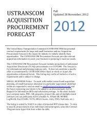 TCAQ Procurement Forecast - Updated 14 November 2012