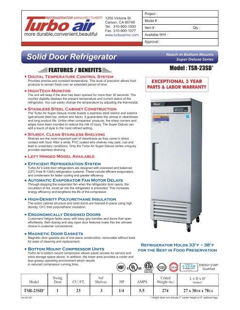 Refrigerator Freezer Installation And Operation Manual