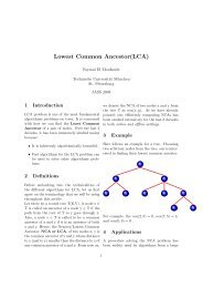Lowest Common Ancestor(LCA) - Chair for Efficient Algorithms