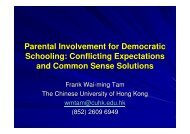 Parental Involvement for Democratic Schooling: Conflicting ...