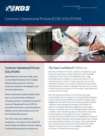 Common Operational Picture (COP) SOLUTIONS - KGS