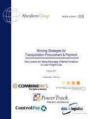 Transportation Procurement Best Practices - Chile Transportes