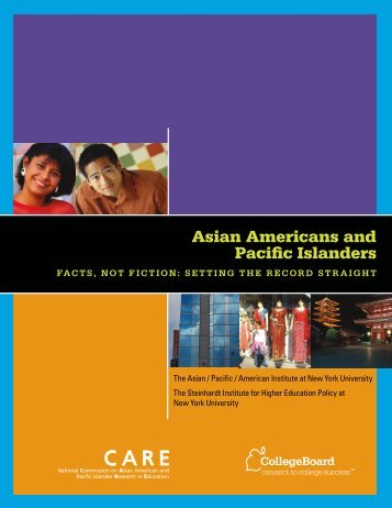 Asian Americans and Pacific Islanders - College Board