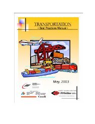 Transportation Best Practices Manual - Department of ...