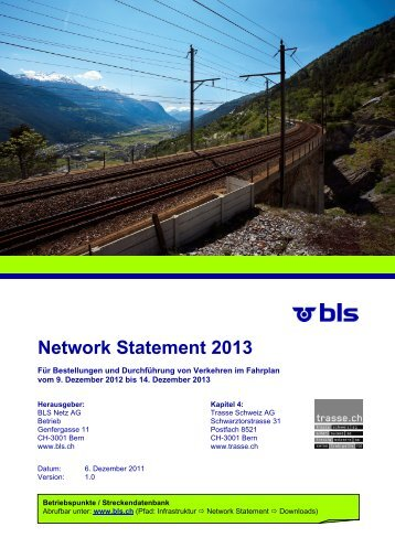 Network Statement  Common Structure - BLS