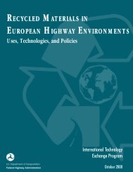 Recycled Materials in European Highway Environments: Uses