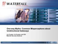 One-way Myths: Common Misperceptions about ... - US-Cert