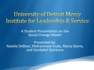 The Institute for Leadership and Service Conceptual Model