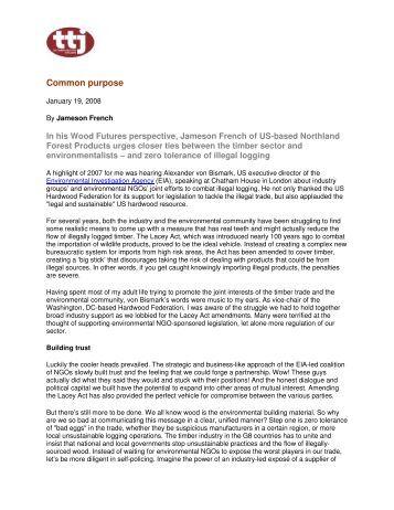 Common purpose - Environmental Investigation Agency