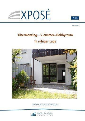 Obermenzing... 2 Zimmer+Hobbyraum in ruhiger Lage - EDER + ...