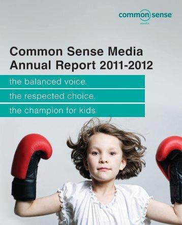 Common Sense Media Annual Report 2011-2012