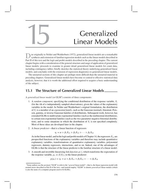15 Generalized Linear Models
