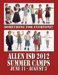 June 11 - august 3 - Allen Independent School District