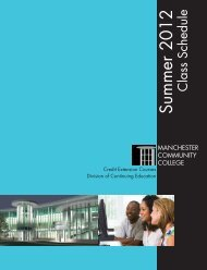 Summer 2012 - Manchester Community College