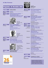 Programm 18. November 2008 Progr - Messe Institut